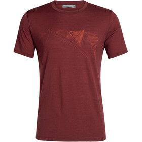 Icebreaker Tech Lite Peak in Reach SS Crewe Shirt Herre Cabernet